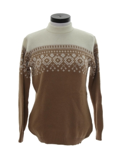 1970's Womens Snowflake Ski Sweater