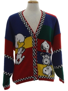1980's Unisex Totally 80s Cardigan Sweater