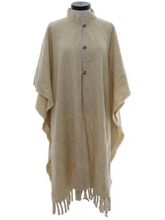 1980's Unisex Wool Hippie Poncho Jacket