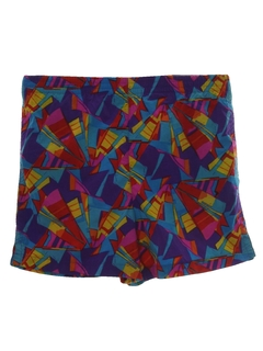 1980's Unisex Totally 80s Print Shorts