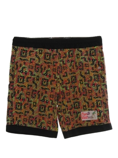 1990's Mens 90s Print Baggy Shorts