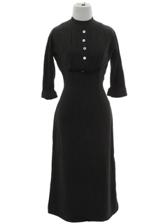1960's Womens Wool Wiggle Dress