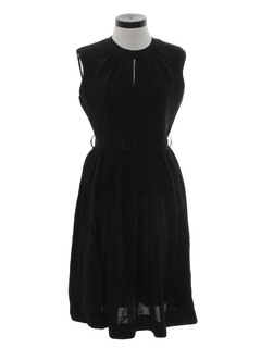 1950's Womens Little Black Cocktail Dress