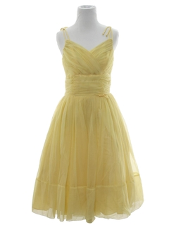 1960's Womens Prom Or Cocktail Dress
