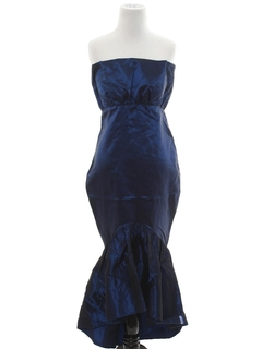 1980's Womens Asymmetrical Totally 80s Prom Or Cocktail Dress