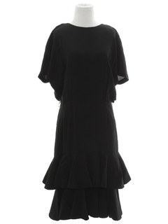 1980's Womens Totally 80s Little Black Dress
