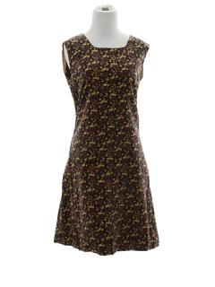 1960's Womens Velvet Dress