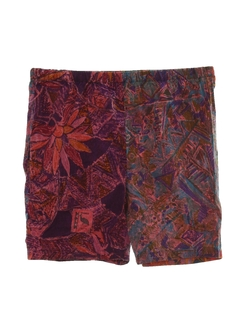 1990's Unisex Wicked 90s Hippie Style Baggy Print Shorts