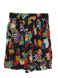1980's Womens Wicked 90s Culotte Shorts