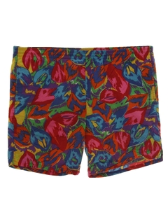 1980's Mens Totally 80s Board Shorts