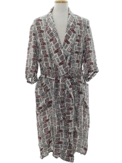 1950's Mens Smoking Jacket Style Robe
