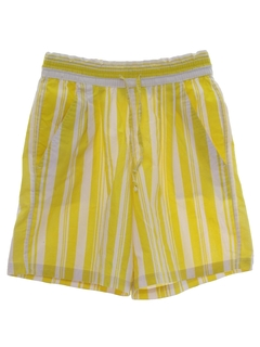 1980's Womens Totally 80s Baggy Striped Shorts