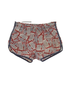 1980's Mens Totally 80s Budweiser Swim Shorts