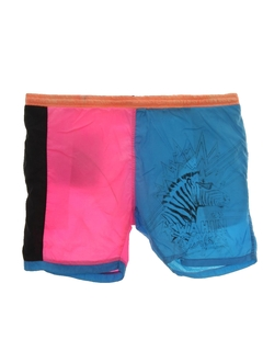 1980's Mens Neon Swim Shorts