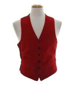 1960's Mens Corduroy Mod Suit Vest