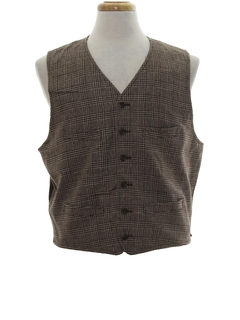 1980's Mens Totally 80s Wool Vest