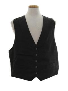 1990's Mens Pioneer 1800s Style Western Suit Vest