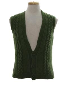 1960's Unisex Mod Sweater Vest