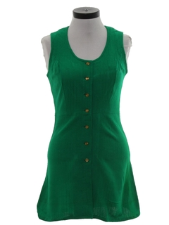 1970's Womens Micro-Mini Dress