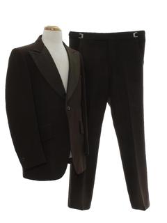 1970's Mens Disco Sharkskin Tuxedo Suit