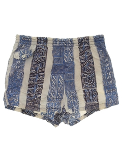 1960's Mens Mod Hawaiian Style Swim Shorts