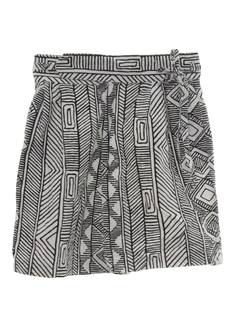 1980's Womens Totally 80s Skort Shorts