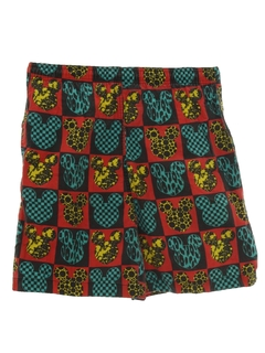 1980's Mens Wicked 90s Print Baggy Shorts