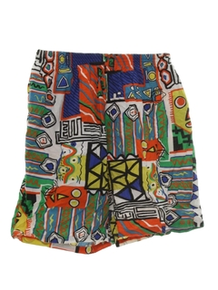 1990's Mens Wicked 90s Print Baggy Shorts
