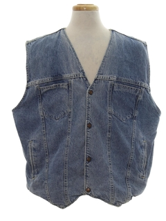 1990's Mens Wicked 90s Reversible Denim Vest