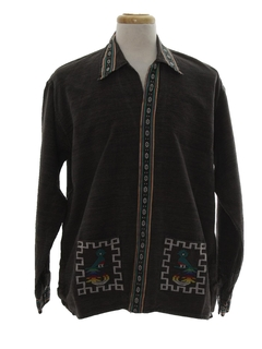 1980's Mens Guatemalan Style Hippie Shirt