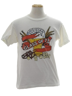 1980's Unisex Cheesy Alcohol T-shirt