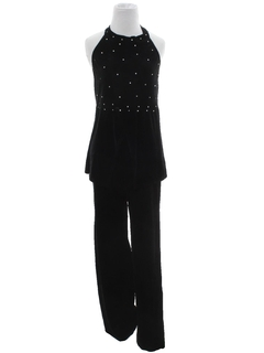 1980's Womens Totally 80s Velvet Jumpsuit