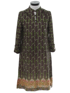 1970's Womens Knit A-Line Dress