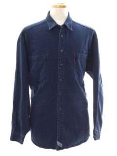 1980's Mens Totally 80s Denim Shirt