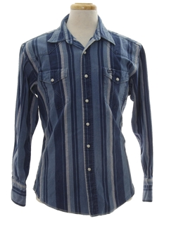 1990's Mens Wicked 90s Denim Western Shirt