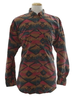 1990's Mens Wicked 90s Geometric Print Shirt