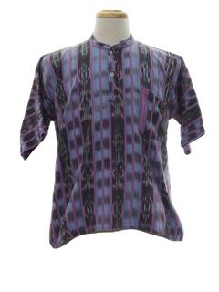1980's Unisex Guatemalan Style Hippie Shirt