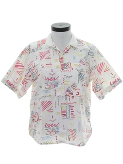 1980's Womens Resort Wear Shirt
