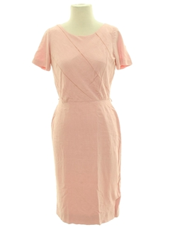 1950's Womens Designer Sheath Day Dress