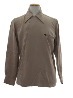 1940's Mens Gabardine Shirt Jacket