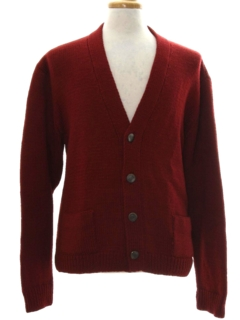 1960's Mens Mod Wool Cardigan Sweater