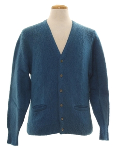 1960's Mens Wool Cardigan Sweater