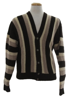 1950's Mens Mod Wool Cardigan Sweater