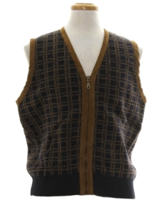 1980's Mens Wool Sweater Vest