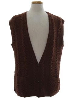 1960's Mens Wool Sweater Vest