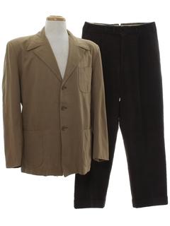 1940's Mens Combo Suit