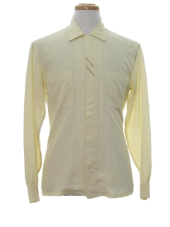 1960's Mens Mod Embroidered Sport Shirt