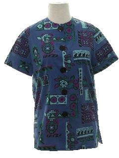 1950's Womens Mod Print Shirt