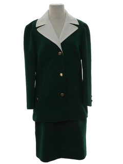 1970's Womens Mod Skirt Suit
