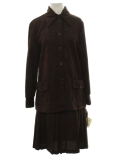 1970's Womens Mod Leisure Skirt Suit